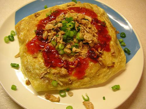nasi goreng omelet